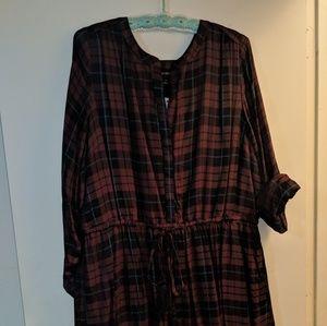 Lane Bryant red and black plaid dress